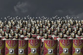 Face to face with a roman legion just before the battle begins.
