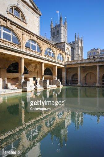 Baños Romanos Inglaterra:Baños romanos y el Abbey