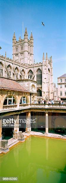 Roman baths at Bath , Somerset , UK