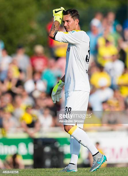 Roman Buerki of Borussia Dortmund during the preseason friendly match between VfL Rhede v Borussia Dortmund at Besagroup Stadium on July 3 2015 in...