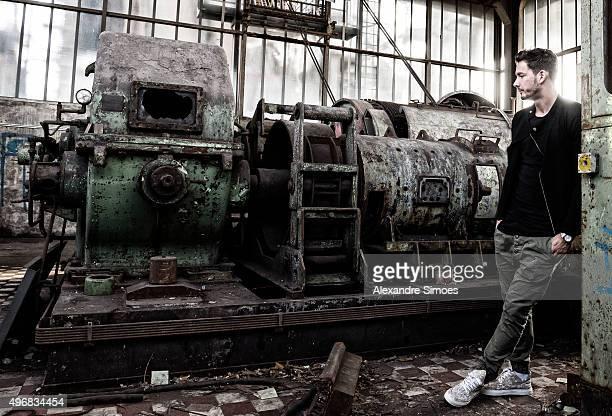 Roman Buerki of Borussia Dortmund poses for a portrait photo session at the shut down blast furnace plant PhoenixWest on October 26 2015 in Dortmund...