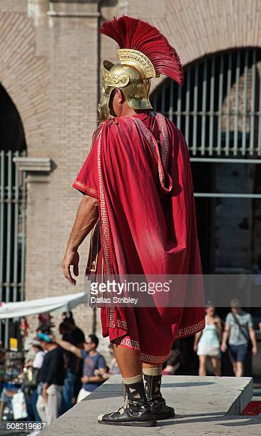 Roman centurion at the Colosseum, Rome, Italy