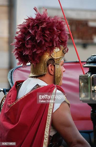 Roman centurion in Piazza della Rotonda, Rome