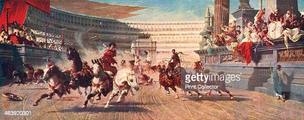 A Roman chariot race The Circus Maximus 20th century