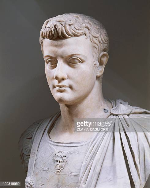 Roman civilization 1st century AD Marble bust of Emperor Caligula photographed circa 1990