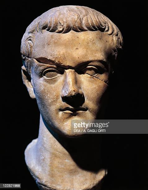 Roman civilization 1st century AD Marble bust of Gaius Julius Caesar Germanicus also known as Caligula Roman emperor from 37 to 41