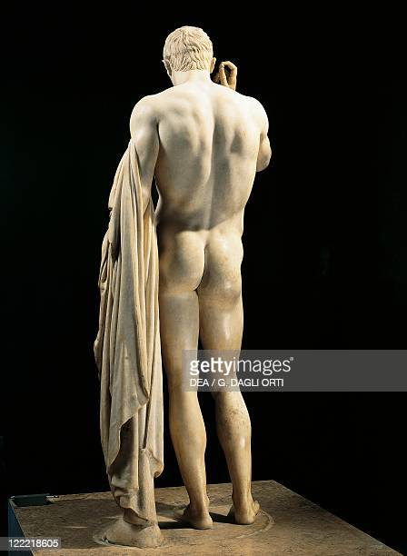 Roman civilization 1st century bC Funerary marble statue in honour of Marcellus nephew and soninlaw of Augustus signed by Athenian sculptor Cleomenes...