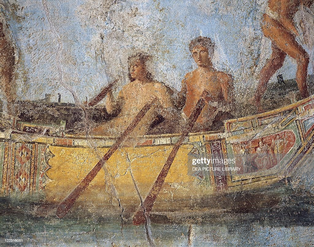 fresco of room e eastern wall marine scene with richly decorated roman civilization 2nd century a d fresco of room e eastern wall marine scene