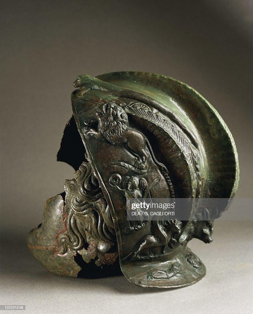 bronze helmet from commander of eleventh claudian legion at