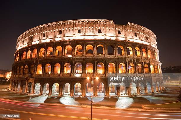 Roman Coliseum at night