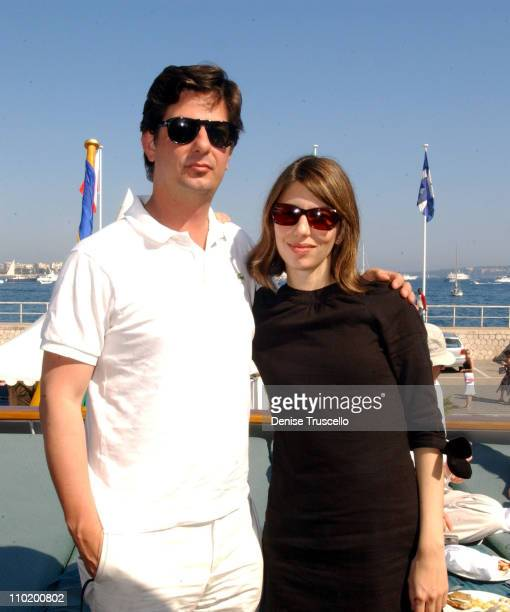 Roman Coppola and Sofia Coppola during 2004 Cannes Film Festival Budweiser Hosts The After Screening Lunch For 'Z Channel' at Big Eagle Yacht in...