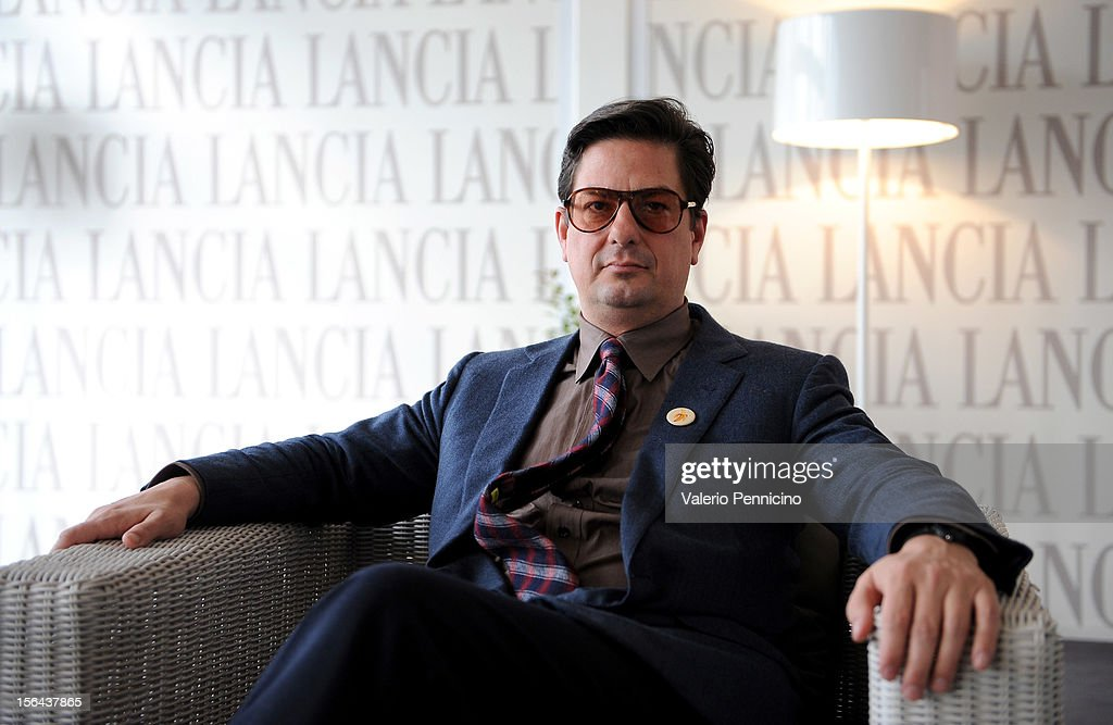 <a gi-track='captionPersonalityLinkClicked' href=/galleries/search?phrase=Roman+Coppola&family=editorial&specificpeople=615097 ng-click='$event.stopPropagation()'>Roman Coppola</a> attends the 7th Rome Film Festival at Lancia Cafe on November 15, 2012 in Rome, Italy.