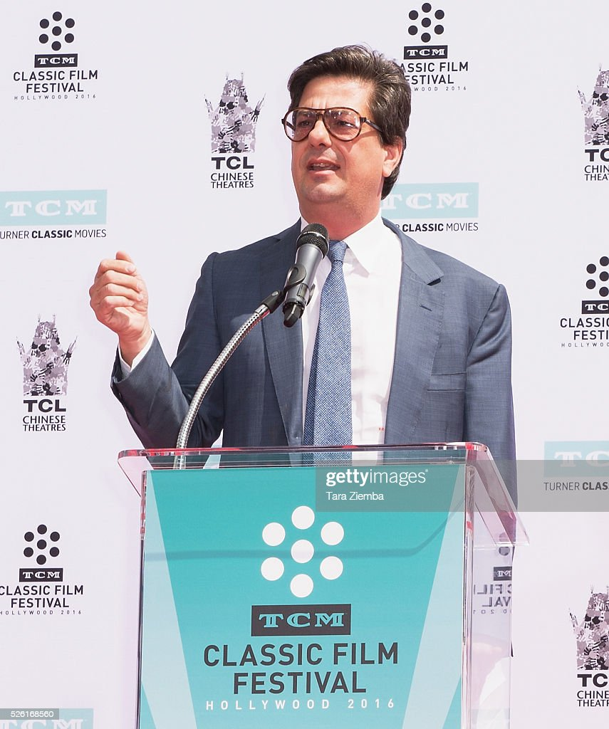 <a gi-track='captionPersonalityLinkClicked' href=/galleries/search?phrase=Roman+Coppola&family=editorial&specificpeople=615097 ng-click='$event.stopPropagation()'>Roman Coppola</a> speaks at the Hand/Footprint Ceremony honoring his father Francis Ford Coppola by TCM at TCL Chinese Theatre IMAX on April 29, 2016 in Hollywood, California.