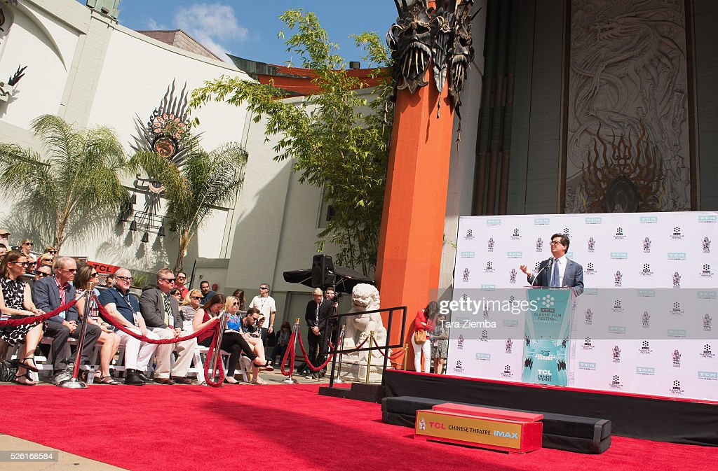 <a gi-track='captionPersonalityLinkClicked' href=/galleries/search?phrase=Roman+Coppola&family=editorial&specificpeople=615097 ng-click='$event.stopPropagation()'>Roman Coppola</a> speaks during the Hand/Foot Ceremony honoring his father Francis Ford Coppola at TCL Chinese Theatre IMAX on April 29, 2016 in Hollywood, California.