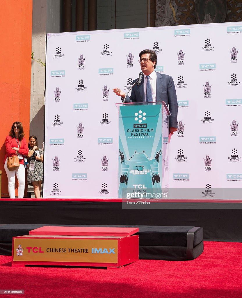 <a gi-track='captionPersonalityLinkClicked' href=/galleries/search?phrase=Roman+Coppola&family=editorial&specificpeople=615097 ng-click='$event.stopPropagation()'>Roman Coppola</a> speaks during the Hand/Footprint Ceremony honoring his father Francis Ford Coppola at TCL Chinese Theatre IMAX on April 29, 2016 in Hollywood, California.
