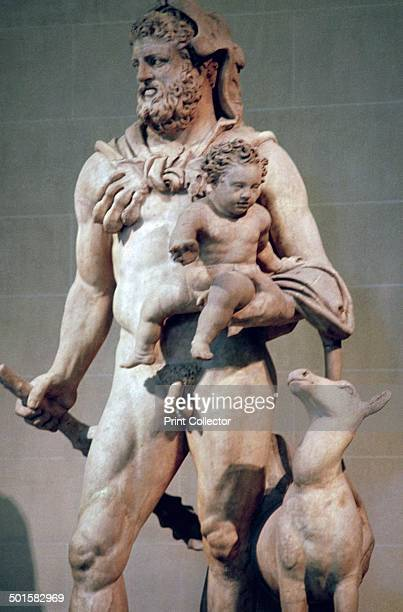 A Roman copy of a Hellenistic original statue of Hercules and Telephus found in 1568 at the Vila di'Este Tivoli From the Louvre's collection 1st2nd...