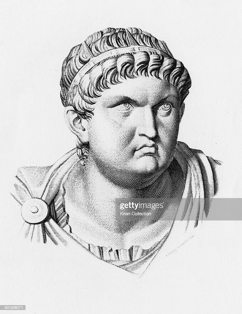 Roman Emperor <a gi-track='captionPersonalityLinkClicked' href=/galleries/search?phrase=Nero+-+Roman+Emperor&family=editorial&specificpeople=3795041 ng-click='$event.stopPropagation()'>Nero</a> (<a gi-track='captionPersonalityLinkClicked' href=/galleries/search?phrase=Nero+-+Roman+Emperor&family=editorial&specificpeople=3795041 ng-click='$event.stopPropagation()'>Nero</a> Claudius Caesar Augustus Germanicus) (37 - 68 AD), circa 60 AD. From an original engraving by Armand Durand.