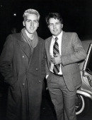 Roman Estevez and Martin Sheen during 'That Championship Season' New York Premiere December 8 1982 at Seventh Regiment Armory in New York City New...