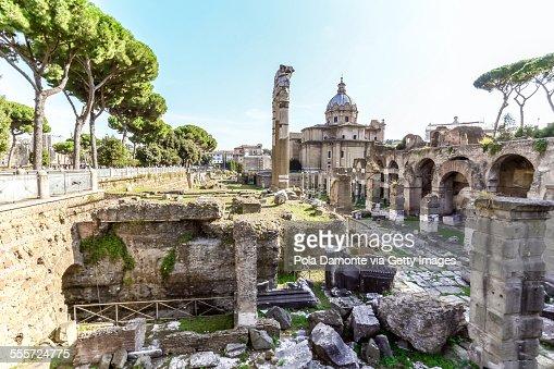 Roman Forum ruins at Rome, Italy