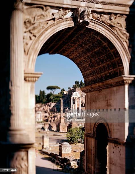 Roman Forum through Arch Of Titus.
