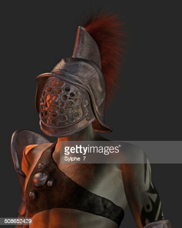 Roman Gladiator Portrait Illustration : Stock Photo
