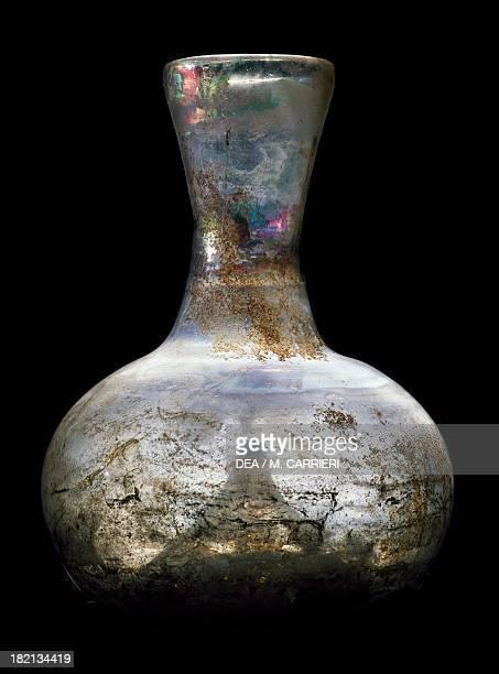 Roman glass vase Roman Civilisation Milan Civiche Raccolte Archeologiche E Numismatiche Civico Museo Archeologico