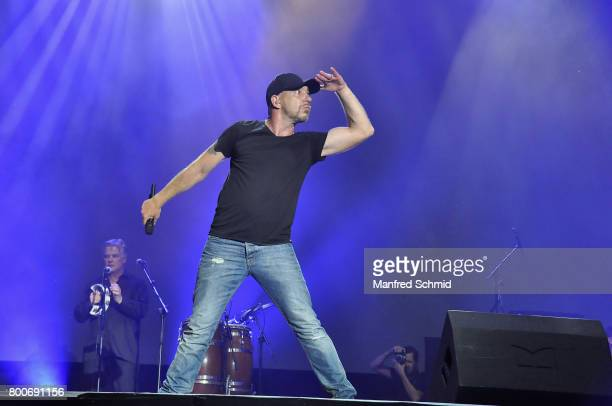 Roman Gregory performs on stage a 'Falco Tribute' during the Day 2 at Donauinselfest 2017 at Donauinsel on June 24 2017 in Vienna Austria