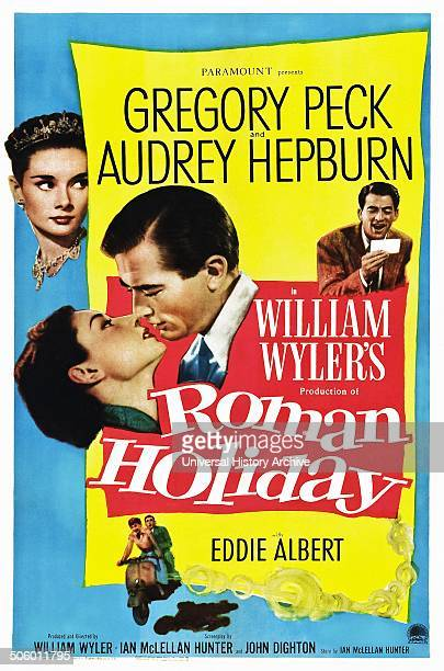 'Roman Holiday' with Gregory Peck and Audrey Hepburn a 1953 romantic comedy