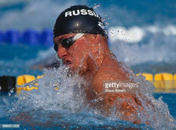 Roman Ivanovsky of Russia during the Men's 50 metres breastroke event at the European Swimming Championships on 29 July 1999 at the Atakoy Olympic...
