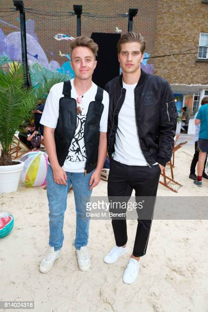 Roman Kemp and Toby HuntingtonWhiteley pictured at the VIP launch of Just Eat Food Fest Desert Island Dishes in Red Market London The threeday desert...