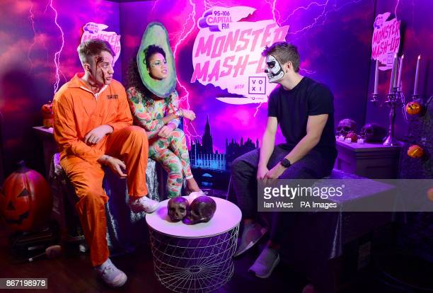 Roman Kemp Vick Hope and Martin Garrix attending Capital's Monster MashUp with VOXI by Vodafone took place at London's Eventim Apollo tonight...