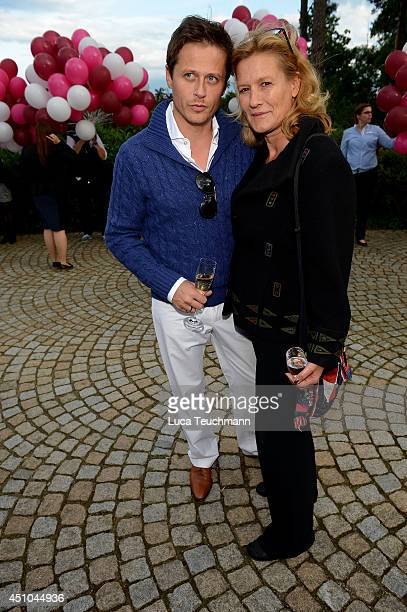 Roman Knizka and Suzanne von Borsody attend the 10th anniversary celebration of ARosa Resort on June 22 2014 in Bad Saarow Germany