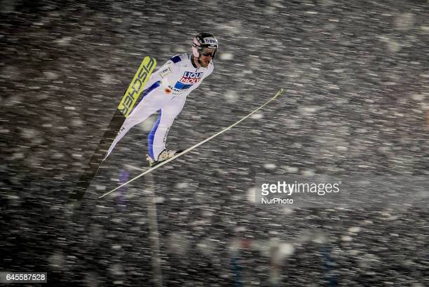 Roman Koudelka competes in the Mixed Team HS100 Normal Hill Ski Jumping during the FIS Nordic World Ski Championships on February 26 2017 in Lahti...