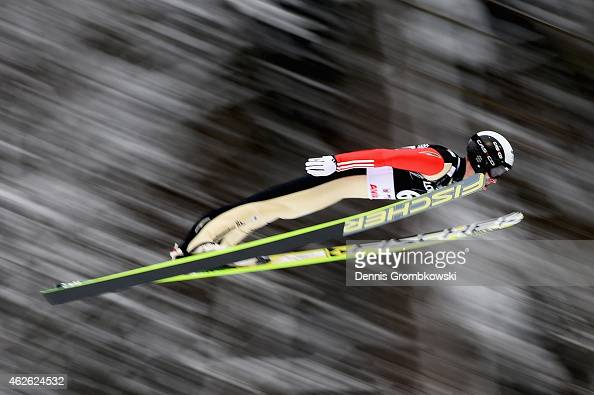 Roman Koudelka of Czech Republic soars through the air during the FIS Ski Jumping World Cup on February 1 2015 in Willingen Germany