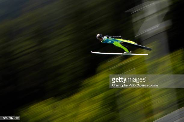 Roman Koudelka of Czech Republic takes 3rd place during the Men's HS 132 at the FIS Grand Prix Ski Jumping on August 12 2017 in Courchevel France