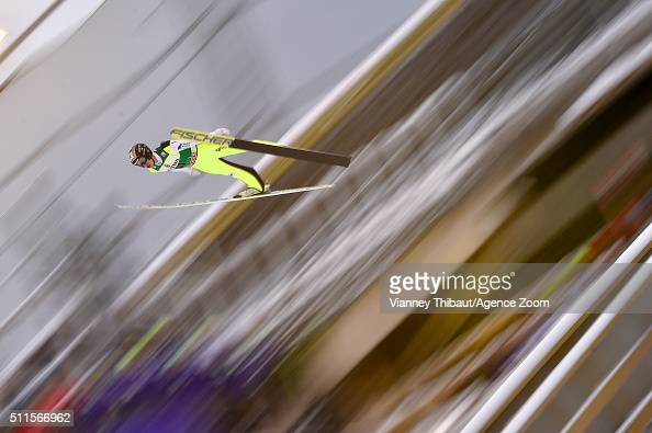 Roman Koudelka of the Czech Republic competes during the FIS Nordic World Cup Men's Ski Jumping HS130 on February 21 2016 in Lahti Finland