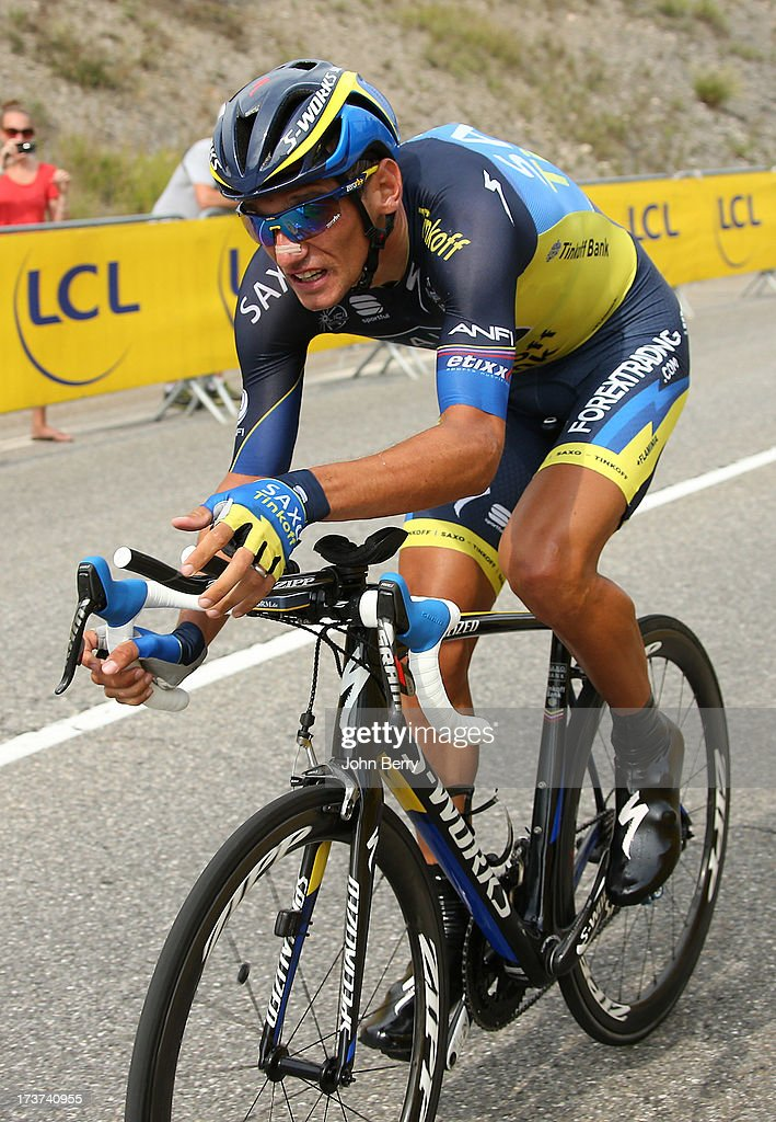 Roman Kreuziger of Czech Republic and Team Saxo-Tinkoff in action during stage seventeen of the 2013 Tour de France, a 32KM Individual Time Trial from Embrun to Chorges on July 17, 2013 in Chorges, France.