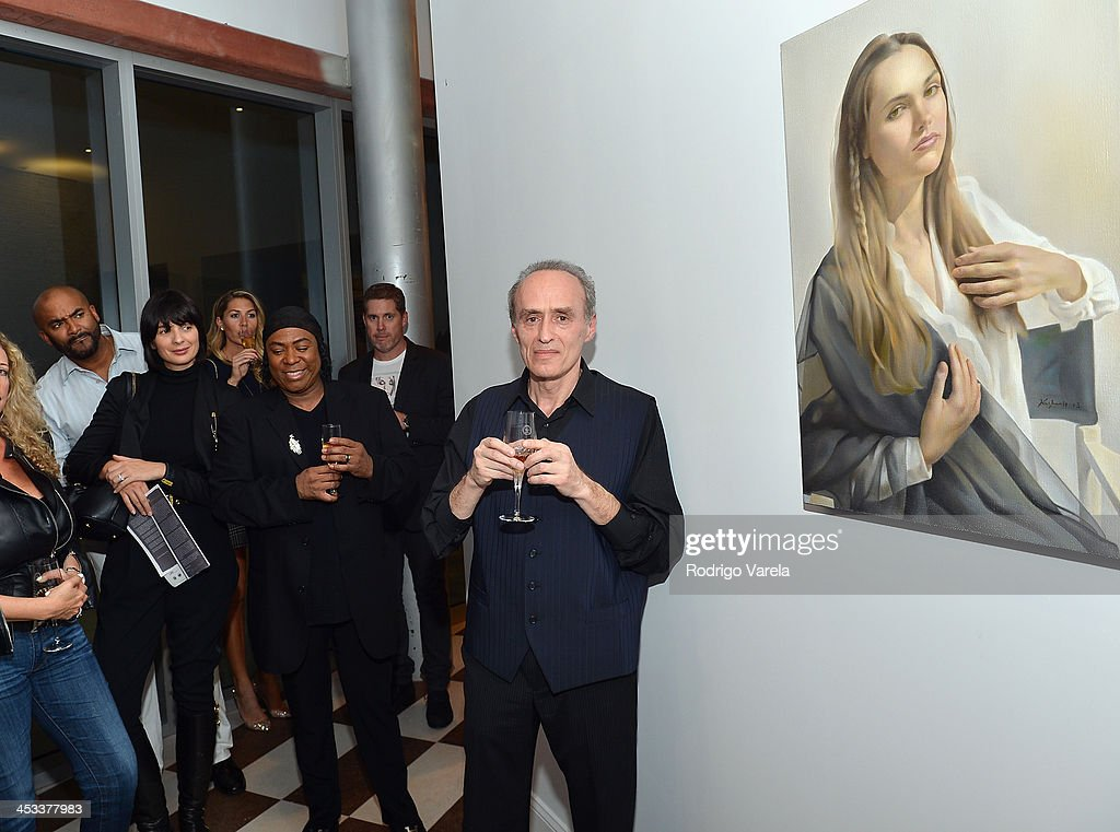Roman Kriheli attends the Roman Kriheli Un:veiled Exhibit At Avant Gallery, Featuring The Unveiling Of 'The Most Beautiful Woman In The World' Painting at Epic Hotel on December 3, 2013 in Miami, Florida.