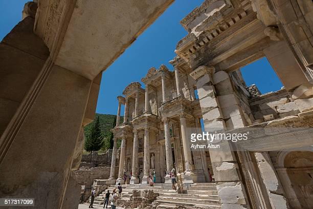 Roman Library of Celsus in Ephesus in Izmir,Turkey