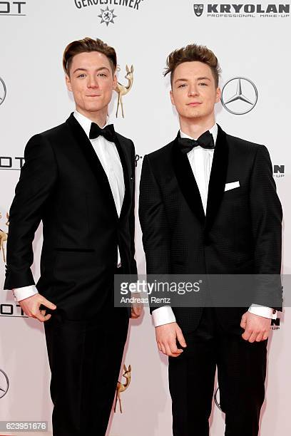 Roman Lochmann and Heiko Lochmann arrive at the Bambi Awards 2016 at Stage Theater on November 17 2016 in Berlin Germany