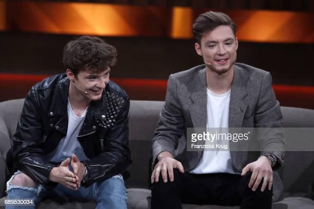 Roman Lochmann and Heiko Lochmann during 'Mensch Gottschalk Das bewegt Deutschland' TV Live Show from Berlin at Studio Berlin Adlershof on May 28...