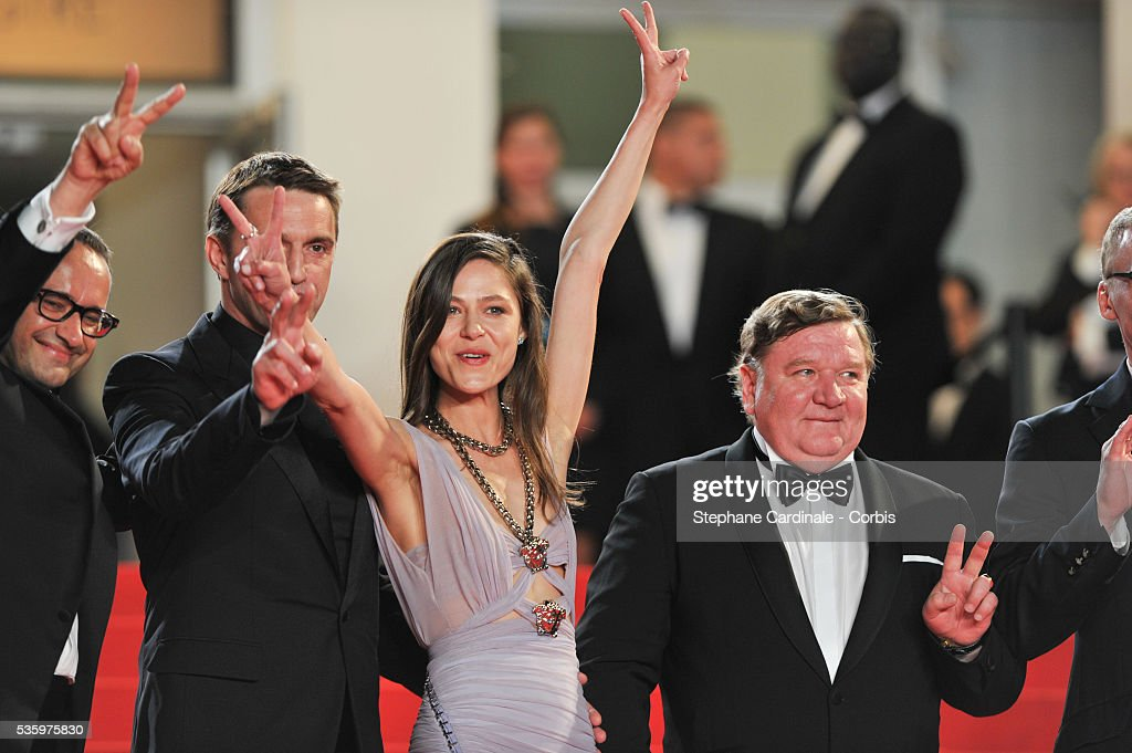 Roman Madyanov, Yelena Lyadova at the 'Leviathan' premiere during the 67th Annual Cannes Film Festival