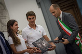 Roman Olympic athletes and Deputy Mayor Daniele Frongia during the meeting with athletes to participate in the Rio 2016 Deputy Mayor Daniele Frongia...