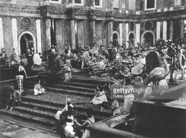 Roman orgy scene from the Italian silent film version of 'Quo Vadis'