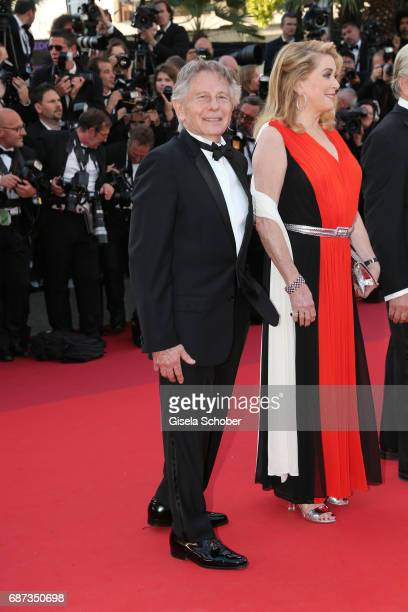 Roman Polanski and Catherine Deneuve attend the 70th Anniversary of the 70th annual Cannes Film Festival at Palais des Festivals on May 23 2017 in...