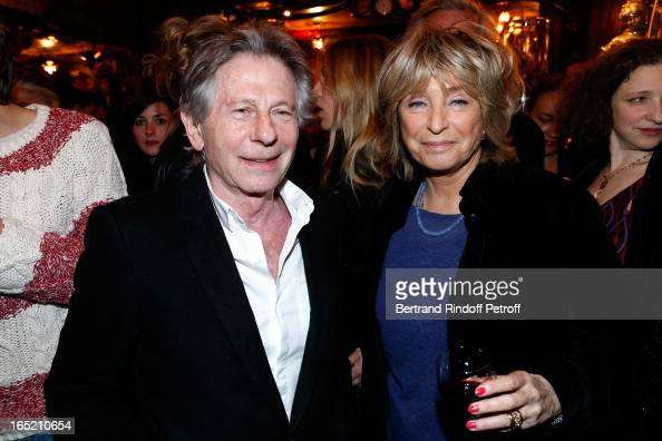 Roman Polanski and director Daniele Thompson attend 'Des gens qui s'embrassent' premiere after party at Maxim's Restaurant on April 1 2013 in Paris...