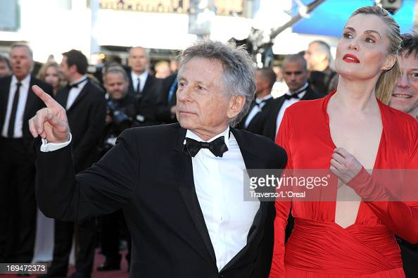 Roman Polanski and Emmanuelle Seigner arrive at 'Venus In Fur' Premiere during the 66th Annual Cannes Film Festival at Grand Theatre Lumiere on May...