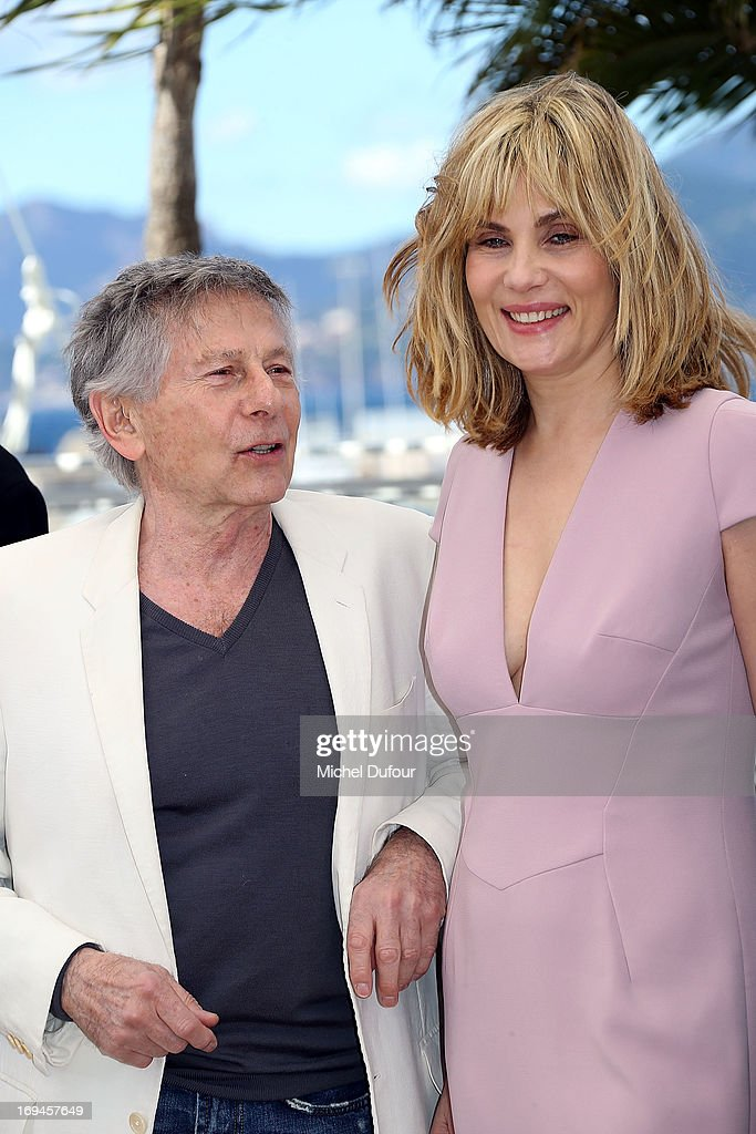 Roman Polanski and <a gi-track='captionPersonalityLinkClicked' href=/galleries/search?phrase=Emmanuelle+Seigner&family=editorial&specificpeople=240590 ng-click='$event.stopPropagation()'>Emmanuelle Seigner</a> attend the 'La Venus A La Fourrure' Photocall during the 66th Annual Cannes Film Festival on May 25, 2013 in Cannes, France.