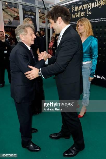 Roman Polanski and Festival director Karl Spoerri attend the 'D'apres une histoire vraie' premiere at the 13th Zurich Film Festival on October 2 2017...