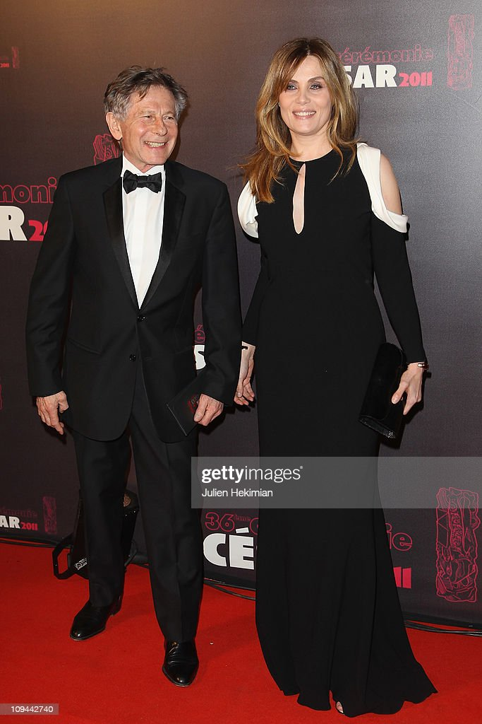 <a gi-track='captionPersonalityLinkClicked' href=/galleries/search?phrase=Roman+Polanski&family=editorial&specificpeople=207150 ng-click='$event.stopPropagation()'>Roman Polanski</a> and his wife <a gi-track='captionPersonalityLinkClicked' href=/galleries/search?phrase=Mathilde+Seigner&family=editorial&specificpeople=2577888 ng-click='$event.stopPropagation()'>Mathilde Seigner</a> attend the 36th Cesar Film Awards at Theatre du Chatelet on February 25, 2011 in Paris, France.